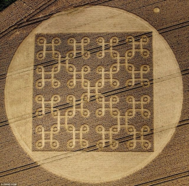 Photo: Apple Command Key Symbol Shows up in a Crop Circle